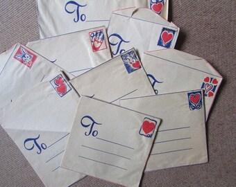 Valentine Envelopes Vintage Envelopes ONLY