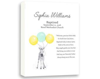 Personalized Christening Art Gift For Godchild, Baby Baptism Art From Godparents, Newborn Dedication Naming Day Ceremony