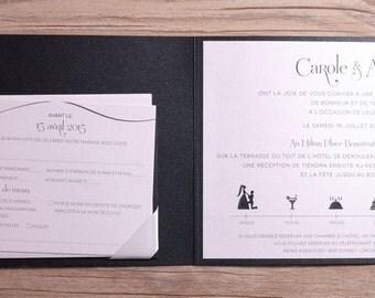 Black glitter Wedding Invitation, Glitter Wedding Invitations, Glitter Invitation, Glitter Invitations, black and white invitations, glitter