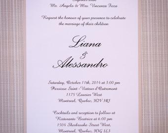 Formal wedding Invitation,formal wedding invitations, Formal Invitation, formal invitations, traditional invitations, traditional invitation