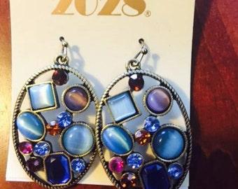 2028 Multi Blue Vintage Earrings