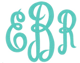 3 Size Jumbo Empire Monogram 3 Letters Embroidery Font BX fonts Embroidery Fonts, Machine Embroidery Designs - INSTANT DOWNLOAD