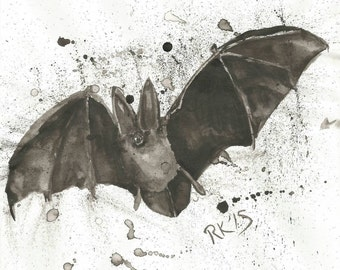 Original ink and brush Bat