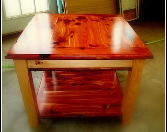 Red Cedar End Table