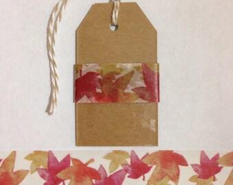 """30"""" Fall Leaves Washi Tape Sample"""