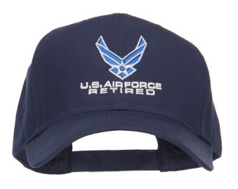 US Air Force Retired Logo Embroidered Cap