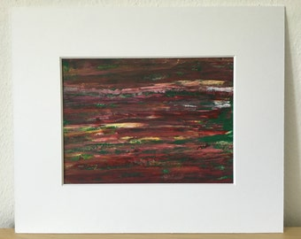 Abstract art, acrylic painting on paper, 30 x 40 cm