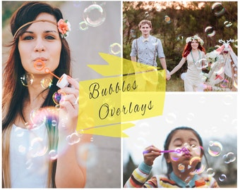 BOGF, Blowing Bubbles Photoshop Overlays, Soap Bubbles Overlay, Digital Backdrop, Photoshop Overlays, Portrait Overlays
