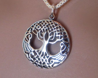 Celtic Tree of Life Sterling Silver Pendant Charm Womens Jewelry Gift