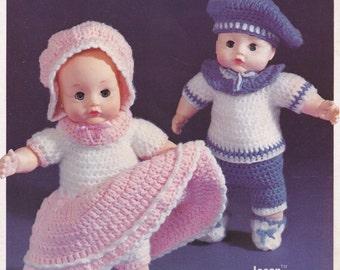 Crochet Dolls, Darice Crochet Pattern Booklet 37006 RARE & HTF
