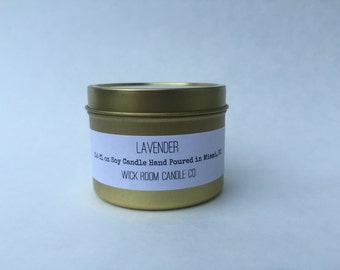 Lavender Scented Soy Candle - Travel Tin