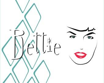 Bettie Page Pop Art Print