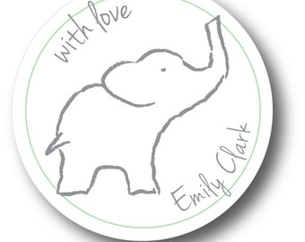 Personalized Gift Stickers_elephants