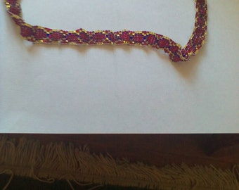 Red beaded hat band