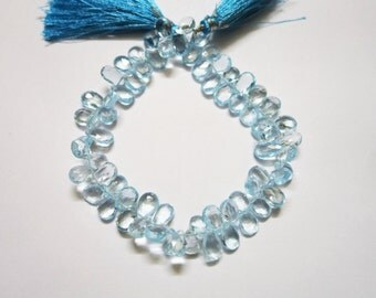 Sky Blue Topaz Faceted Pears