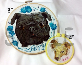 Custom embroidered Pet portrait