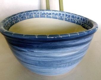 Sink oval / white blue Ø 29/23 cm, H 14 cm