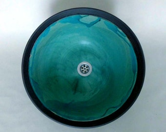 Sink / turquoise Ø 41 cm height 16 cm