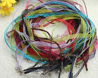 Necklace Organza Ribbon Cord 20 Lobster Claw Clasp Wholesale Diy Create New Buy