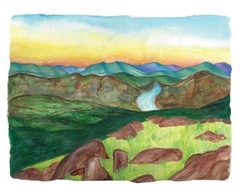 "Custom Watercolor Landscape Painting - 8""x10"" or 9""x12"""