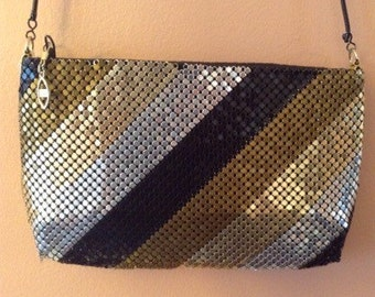 Fierce Metallic Mesh Evening Bag (A037)