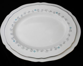 SET of 2 Spode LYRIC #Y7690 OVAL platter - large and small