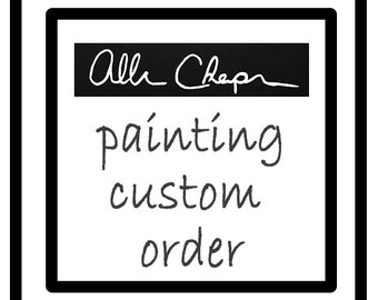 Custom Order  Personalized Handpainted Image 6 X 6 inches Send Image, gift for her, gift for him, home deco, man cave, art, wall art