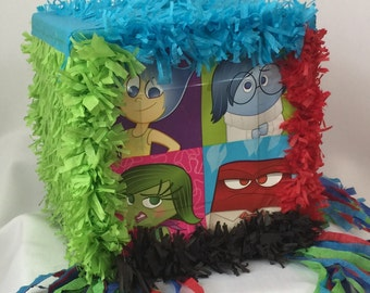 Inside Out Pinata Traditional or Pull Strings Customize Name & Age FREE