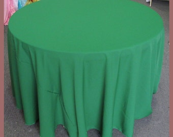 Tablecloth Round [90] [108] [120] [132] Poly Poplin / Polyester / Gabardine inches - Green 532