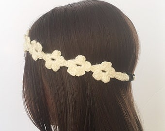 boho headband crocheted - flower