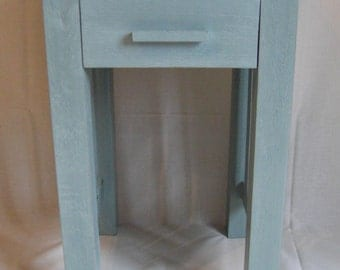 Lamp table / side table in duck egg blue, shabby chic distressed for COLLECTION or up to 50 miles delivery