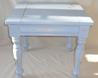 Side table / coffee table in seaside blue, shabby chic distressed for COLLECTION or up to 50 miles delivery