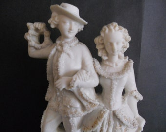 Parian Ware Victorian Figurine with Astrican Trimming. c1861.
