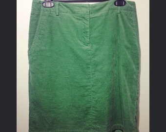 Short Green Corduroy Skirt