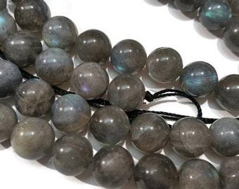 Labradorite Round Beads 10mm Half Strand