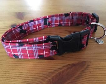 Scottie dog print large collar