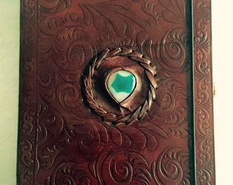 New Handmade  Leather Diary/Travel Journal/Note book - Beautifu Gift