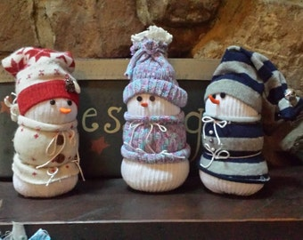 Stuffed handmade snowman
