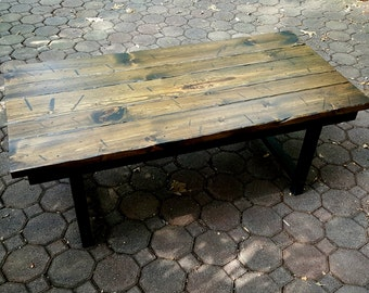 Rustic Coffee Table Cocktail Table Coffee Table Distressed Table
