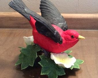 Lenox Garden Birds Scarlet Tanager 1992