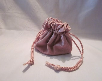 Jewellery Bag - Pink Moire Taffeta