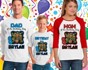 Teenage Mutant Ninja Turtles Birthday  shirt/ninja turtle birthday shirt/ninja turtle short sleeve/ninja turtle onesie tmnt /136