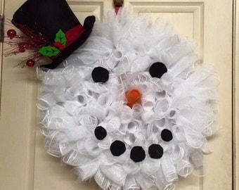 Large Snowman Wreath