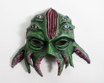 Cthulu Mask, H.P. Lovecraft, Great old one, wearable, from the deep