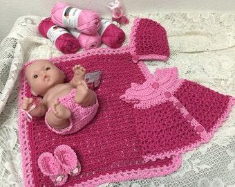 Sleepy Time Crocheted Layette Kit