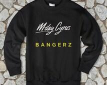 miley cyrus shirt miley cyrus sweatshirt unisex crewneck white black gray colour available size s-m-l