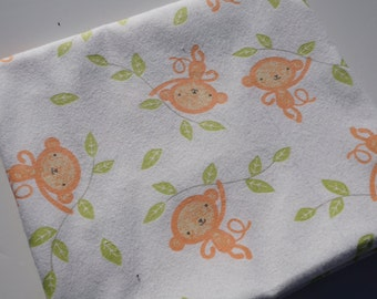 Monkey Receiving Blanket - Baby Blanket - Flannel Blanket, Large, Swaddle Blanket - Monkeys
