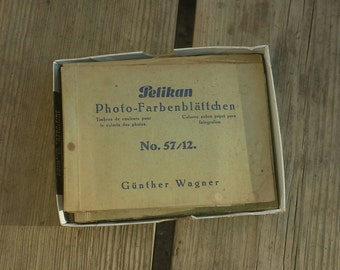 Lot 4 booklets Pelikan with stamps of colors to colorize the vintage photos