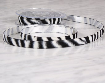 5 m tape 15mm, polyester, Zebra (0217)