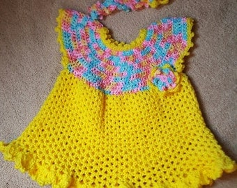 Little Sweetie Dress with headband size 2/3